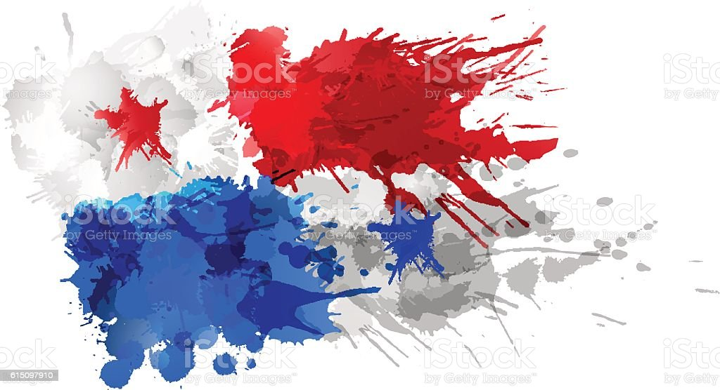 Flag Of Panama Made Of Colorful Splashes Stock Vector Art More - Panama flag