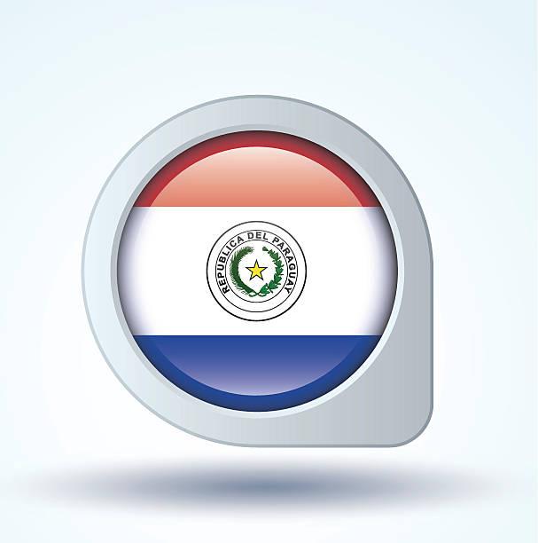 Bandera de Paraguay, ilustración vectorial - ilustración de arte vectorial