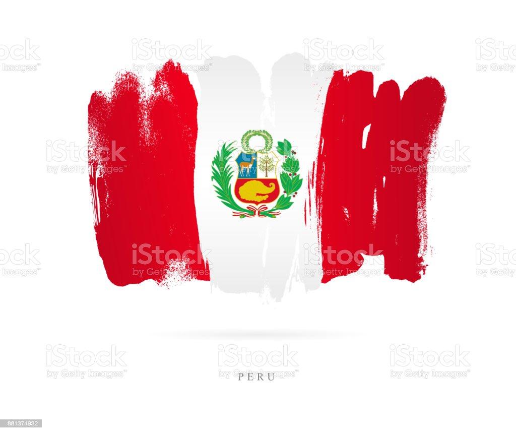 Flagge von Peru. Vektor-illustration – Vektorgrafik