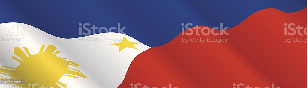 Flag of Philippines vector art illustration