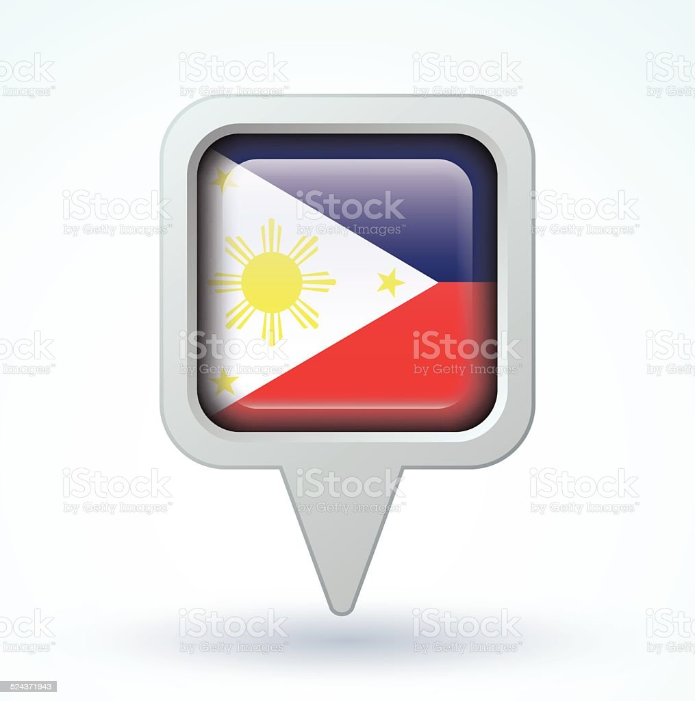 Flag of philippines, vector illustration vector art illustration