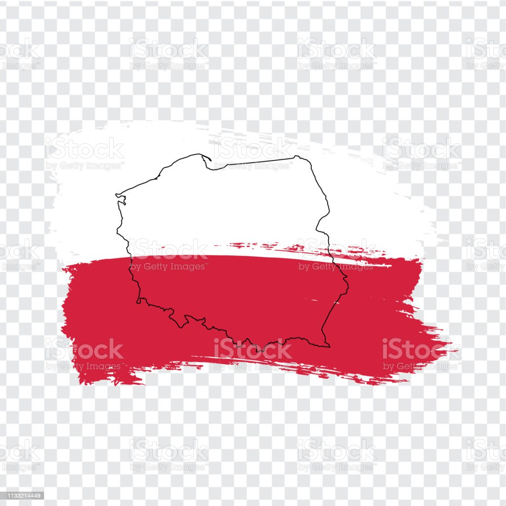 Picture of: Flag Of Poland From Brush Strokes And Blank Map Poland High Quality Map Of Poland And Flag On Transparent Background Stock Vector Vector Illustration Eps10 Stock Illustration Download Image Now Istock