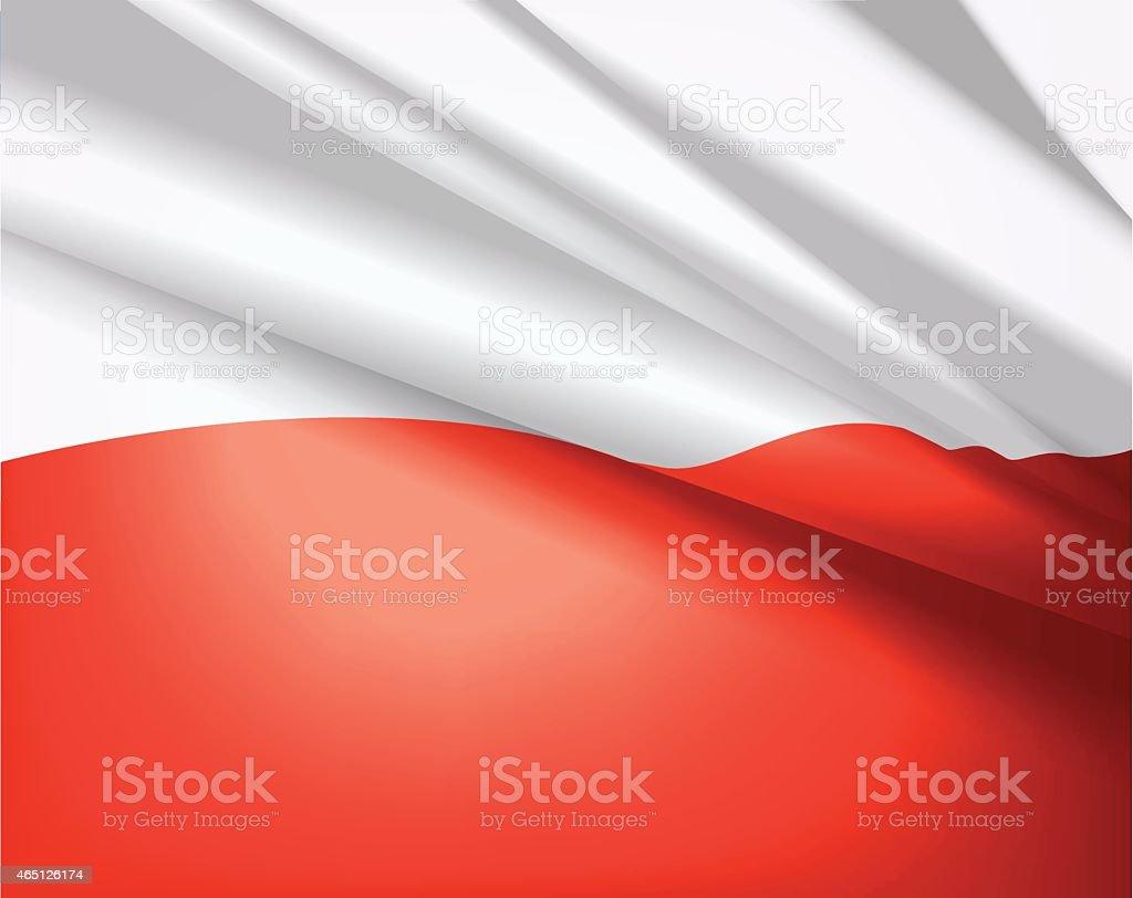 Flag of Poland, vector background vector art illustration