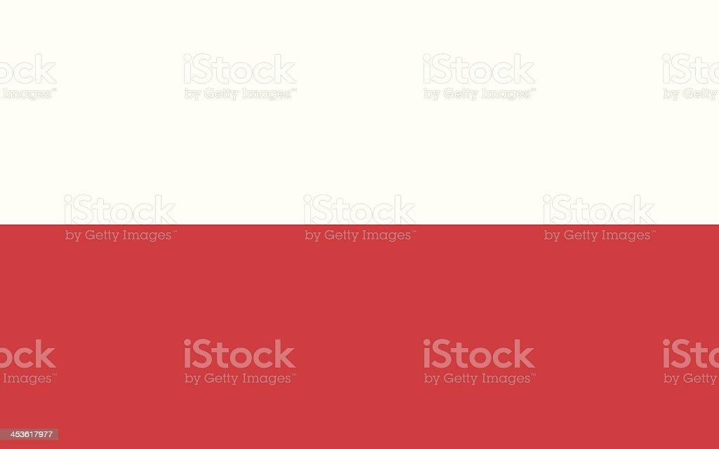 Bandera de Polonia - ilustración de arte vectorial
