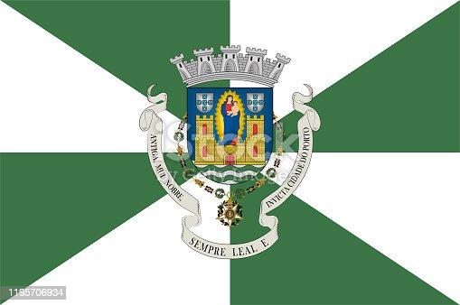 istock Flag of Porto in Portugal 1195706934