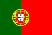 The national flag of Portugal. Official specifications and dimensions. EPS10 vector illustration, global colors, easy to modify.
