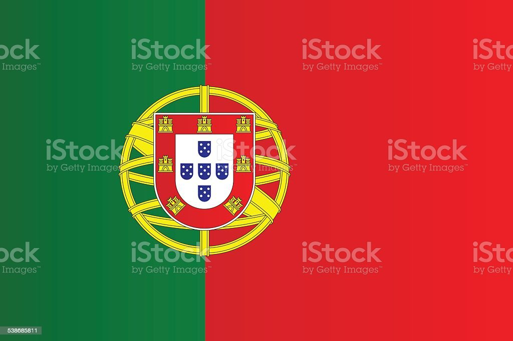 Flag of Portugal vector art illustration
