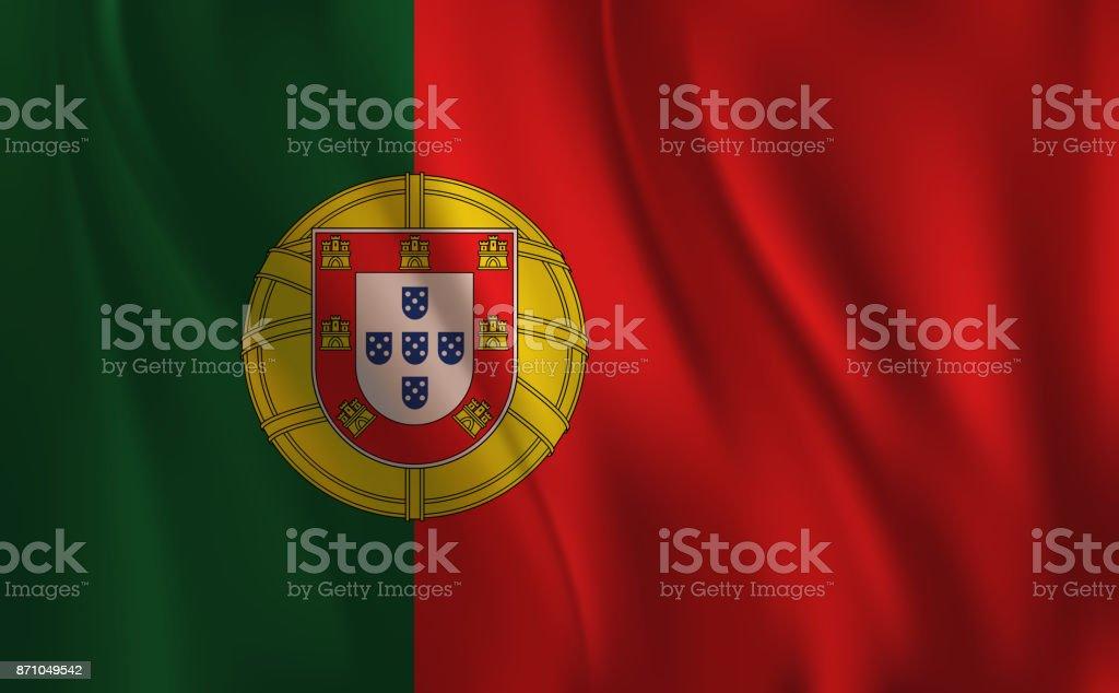 Flag of Portugal - ilustração de arte vetorial
