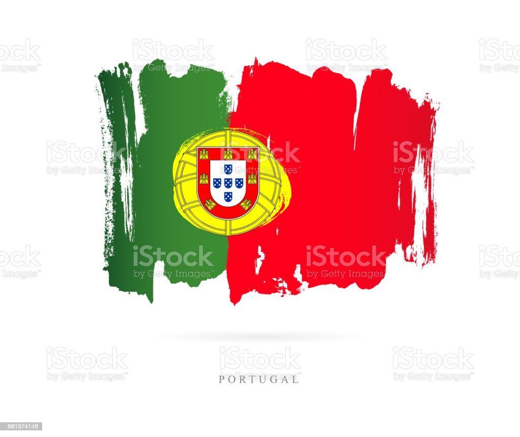 Flag of Portugal. Vector illustration - ilustração de arte vetorial