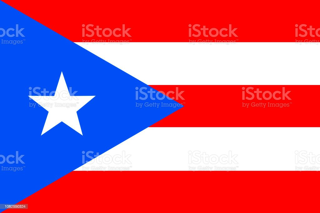 Bandeira de Porto Rico. Commonwealth de Puerto Rico-Estados Unidos da América - ilustração de arte em vetor