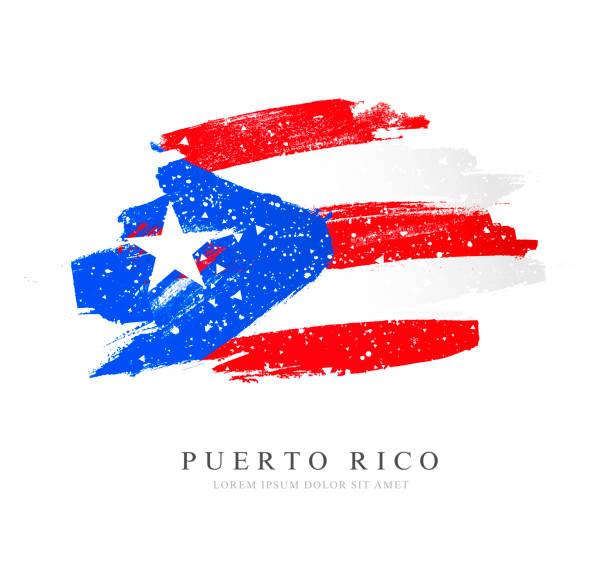 Flagge von Puerto Rico. Vektor-Illustration auf weißem Hintergrund. – Vektorgrafik