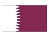 Vector illustration of the flag of Qatar