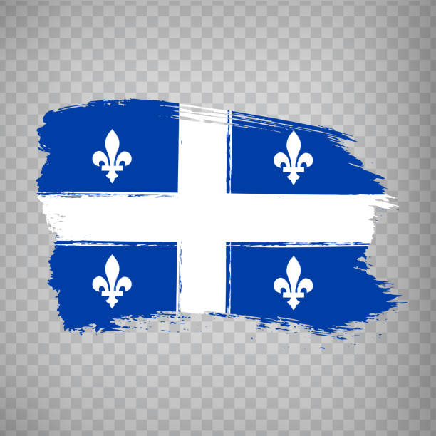 Flag of Quebec brush strokes. Flag  Quebec Province of Canada on transparent background for your web site design, logo, app, UI. Canada. Stock vector.  EPS10. Flag of Quebec brush strokes. Flag  Quebec Province of Canada on transparent background for your web site design, logo, app, UI. Canada. Stock vector.  EPS10. quebec stock illustrations