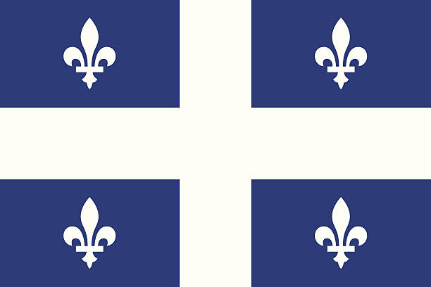 Flag of Quebec Canada Flag, Flag of Quebec. quebec stock illustrations
