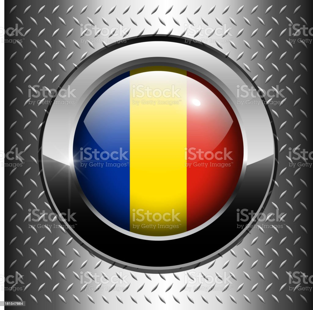 Flag of Romania  button royalty-free flag of romania button stock vector art & more images of authority