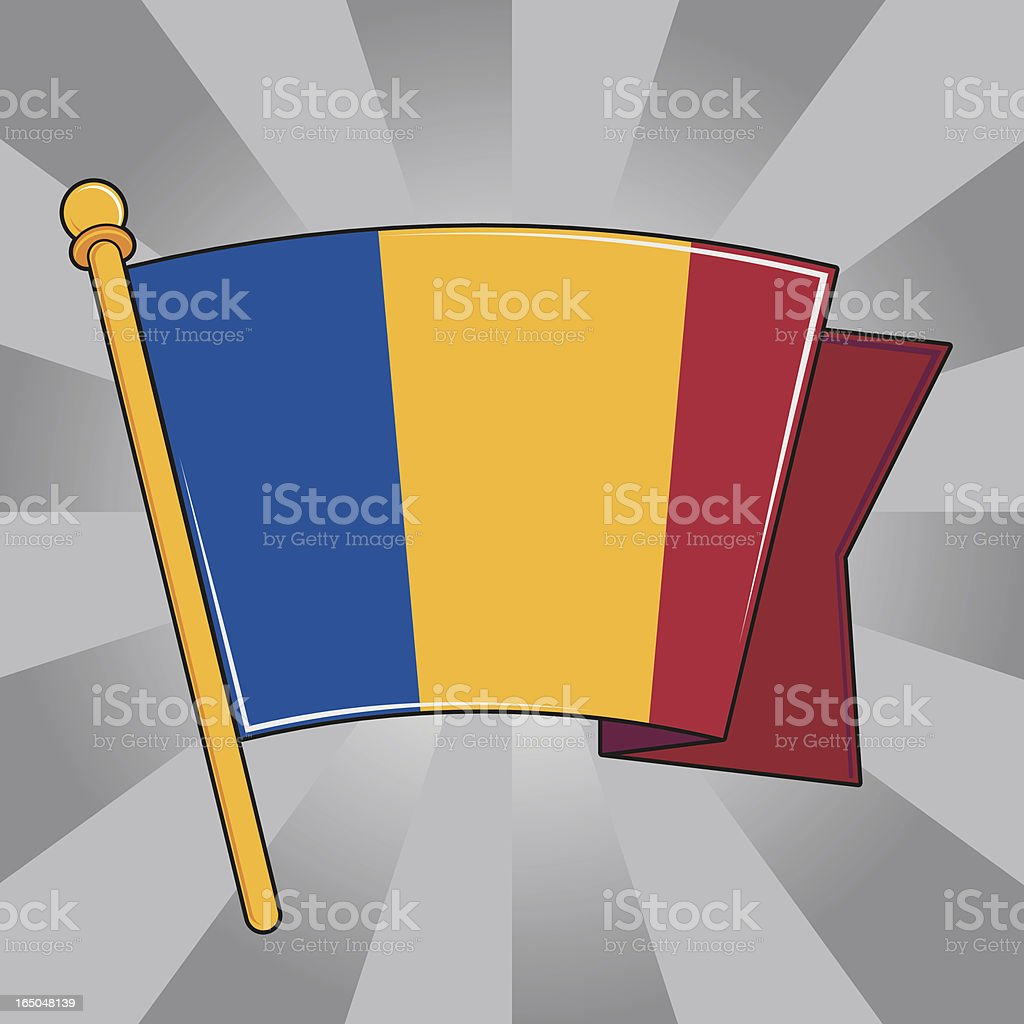 Flag of Romania royalty-free flag of romania stock vector art & more images of armed forces