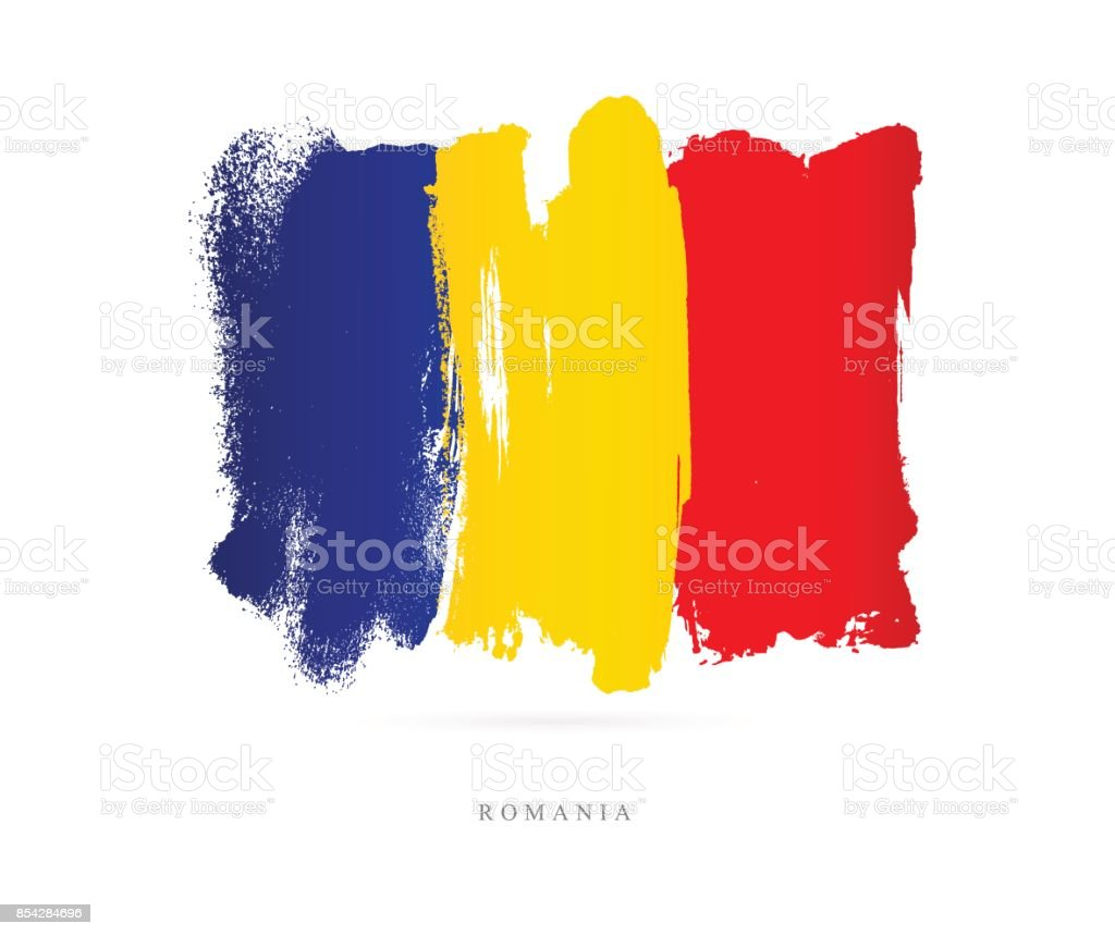 Flag of Romania. Vector illustration vector art illustration