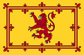 istock Flag of Royal Banner of the Kingdom of Scotland 1206942040