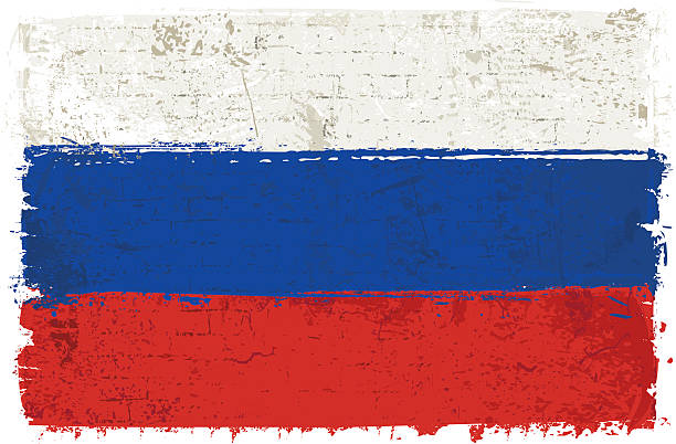 flag of russia on wall - russian flag stock illustrations, clip art, cartoons, & icons
