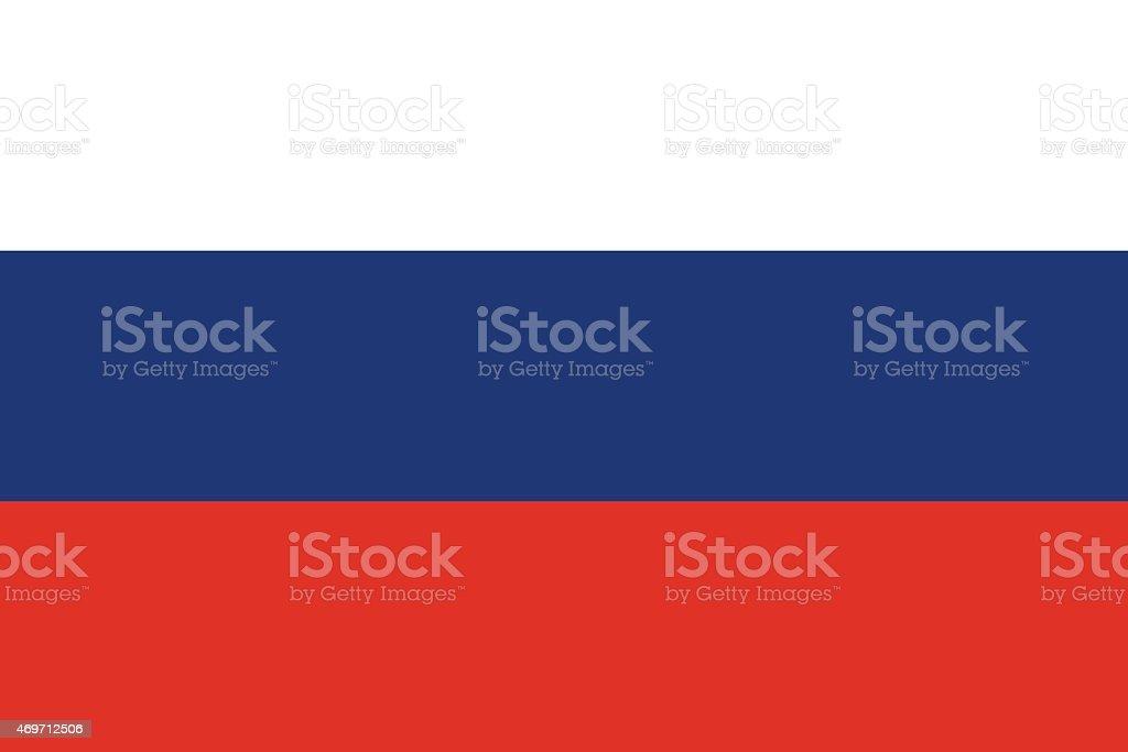 Drapeau de la Russie - Illustration vectorielle