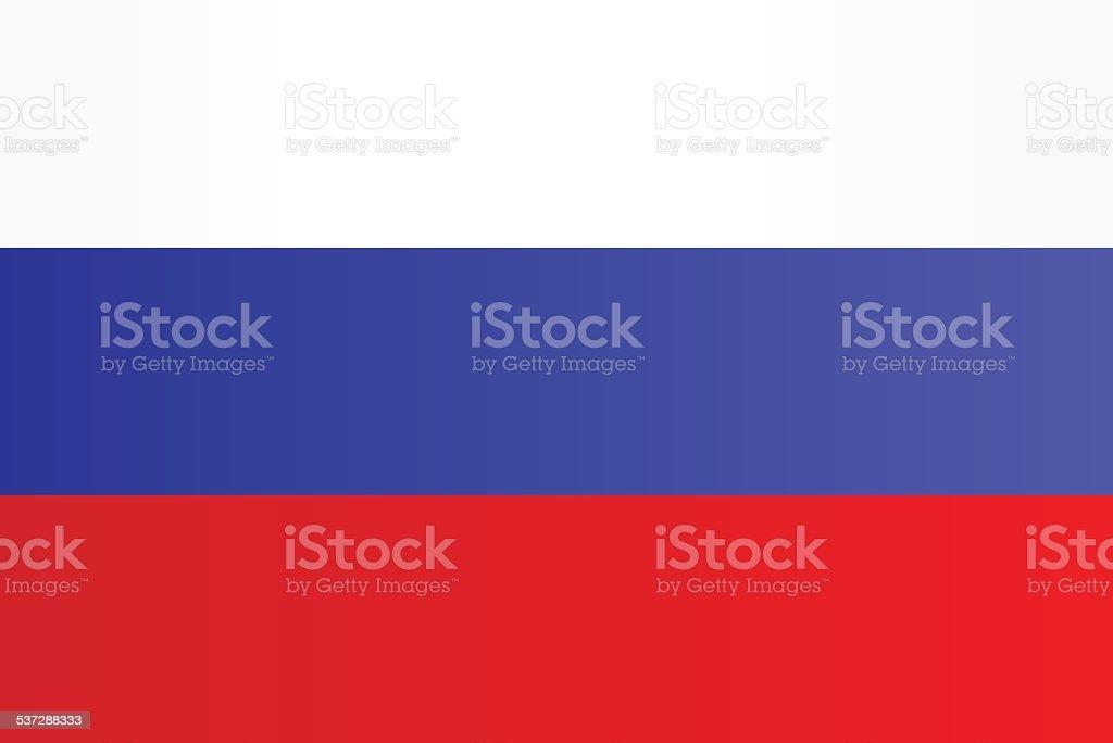 Flagge von Russland – Vektorgrafik