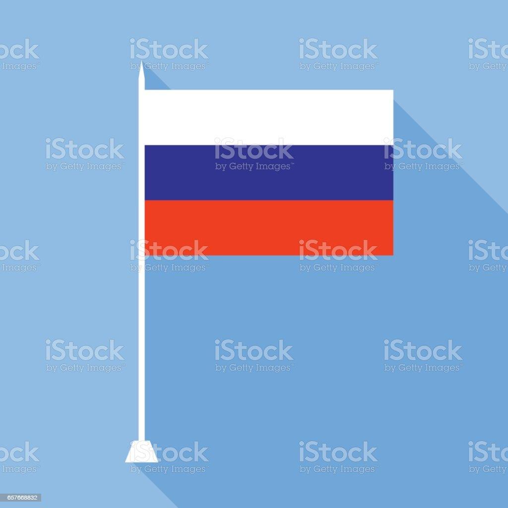 Drapeau de la Russie. - Illustration vectorielle