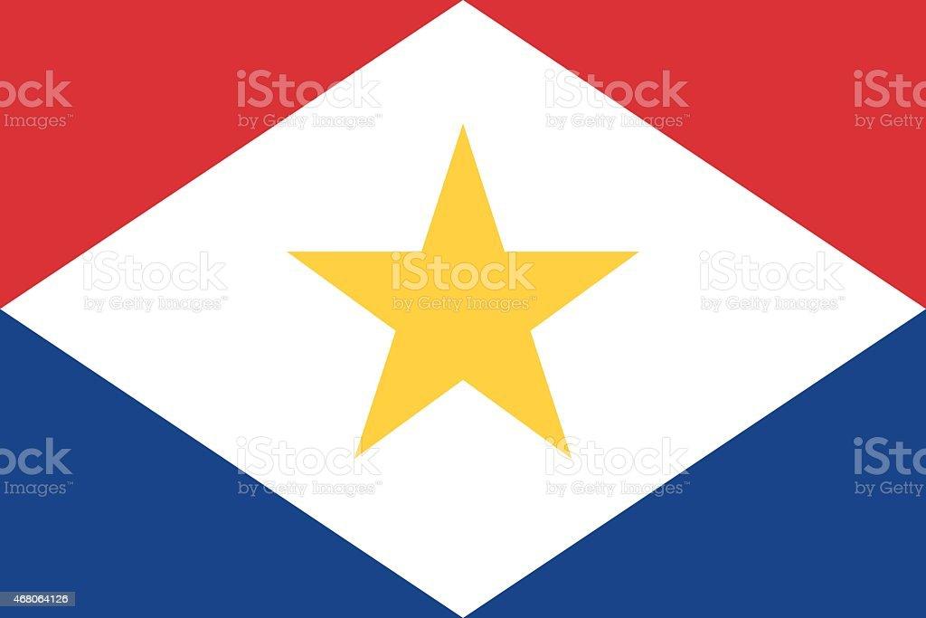 Flag of Saba vector art illustration