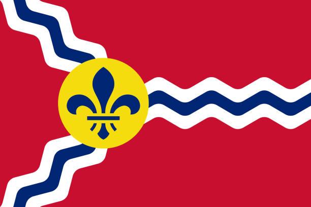 聖路易斯密蘇里州的國旗。美利堅合眾國 a/ - st louis 幅插畫檔、美工圖案、卡通及圖標