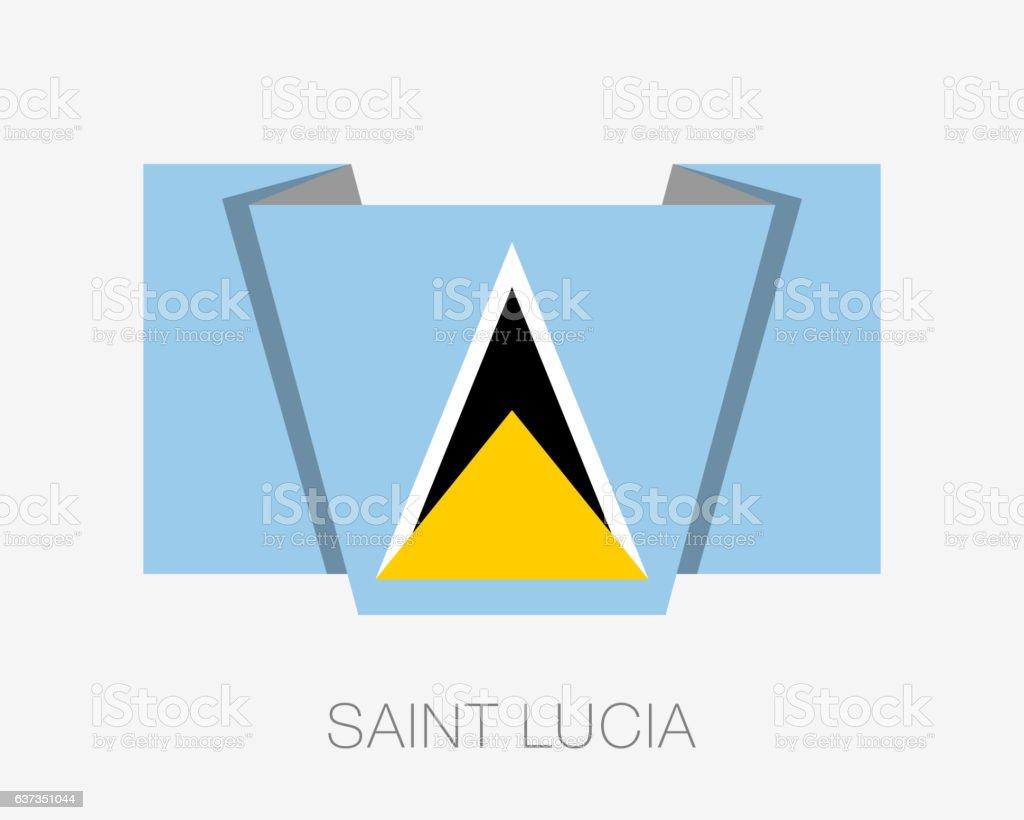 Flag of Saint Lucia. Flat Icon vector art illustration