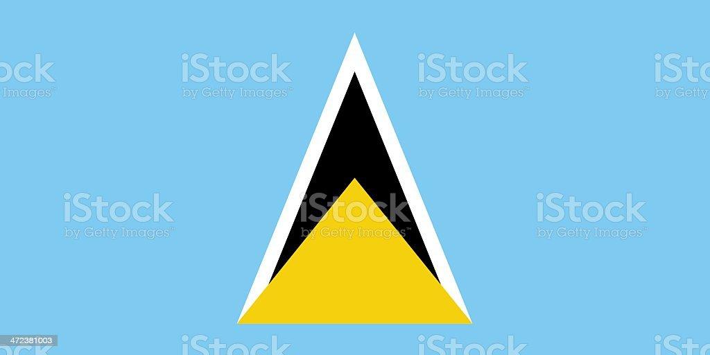 Flag of Saint Lucia vector art illustration