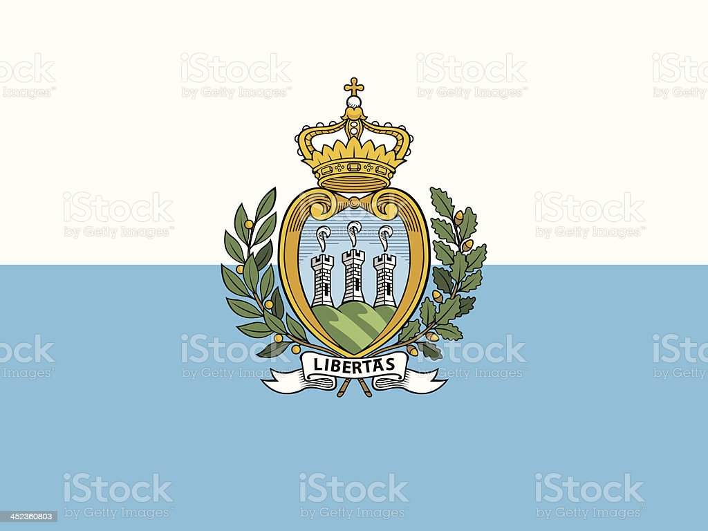 Flag of San Marino vector art illustration