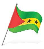 flag of Sao Tome Principe vector illustration