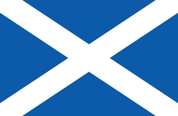 Flag of Scotland Vector illustration of the flag of Scotland. alba stock illustrations