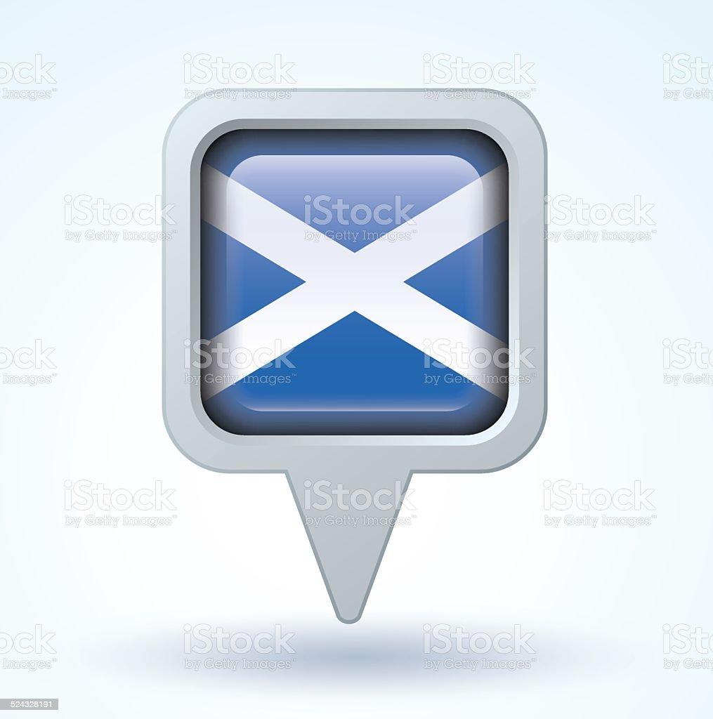 Flag of Scotland, vector illustration