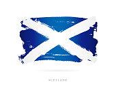 Flag of Scotland. Vector illustration