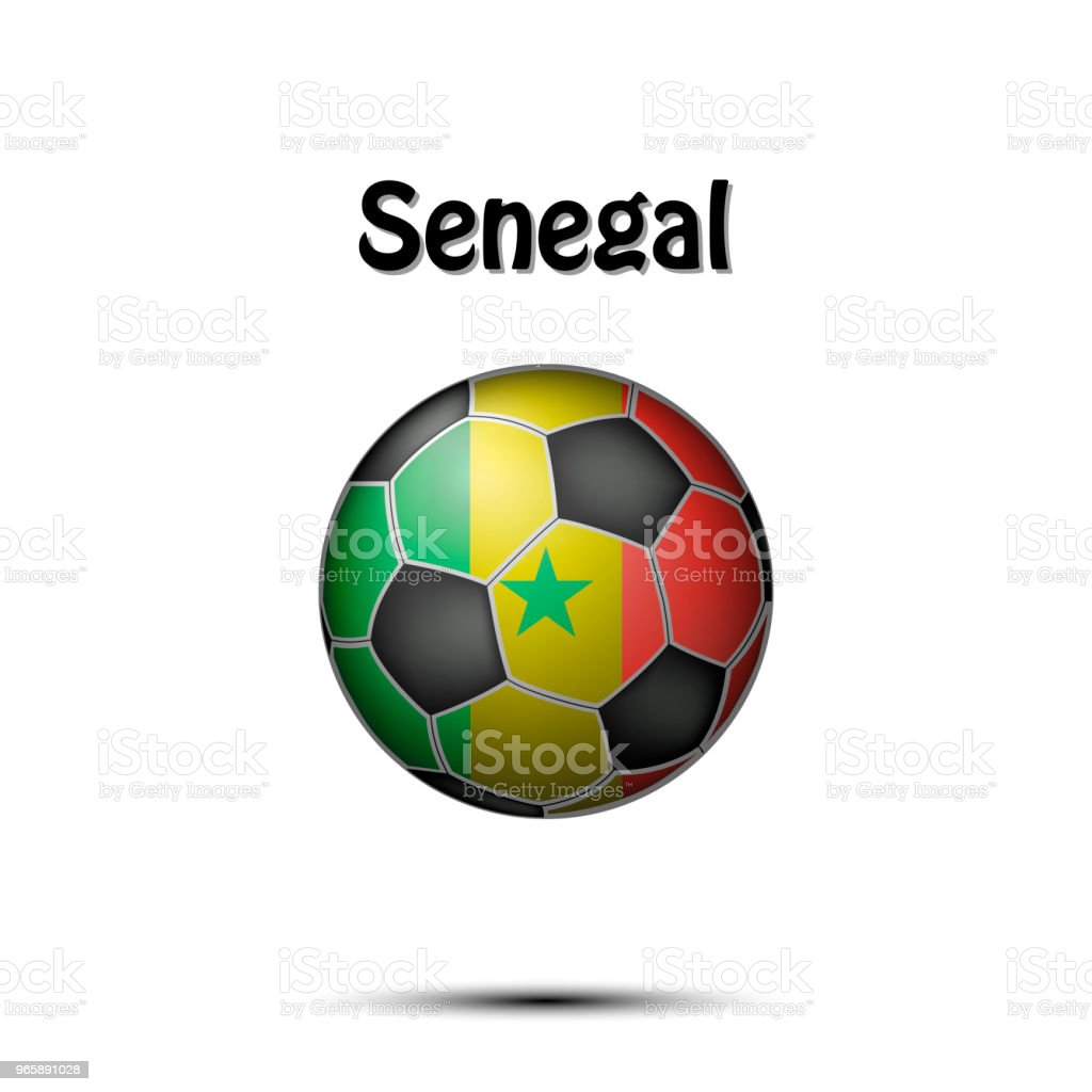 Flag of Senegal in the form of a soccer ball - Royalty-free Abstract stock vector