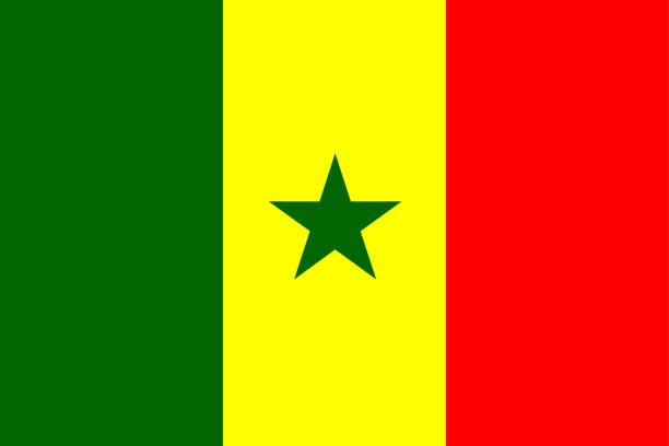 flag of senegal - senegal stock illustrations