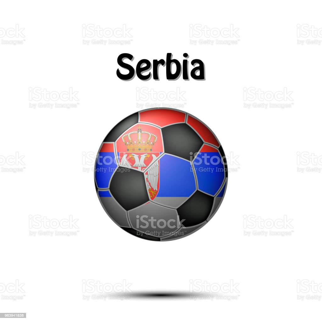 Flag of Serbia in the form of a soccer ball - Royalty-free Abstract stock vector