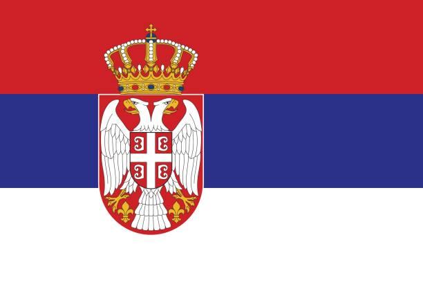 Flag of Serbia Flag of Serbia serbia stock illustrations