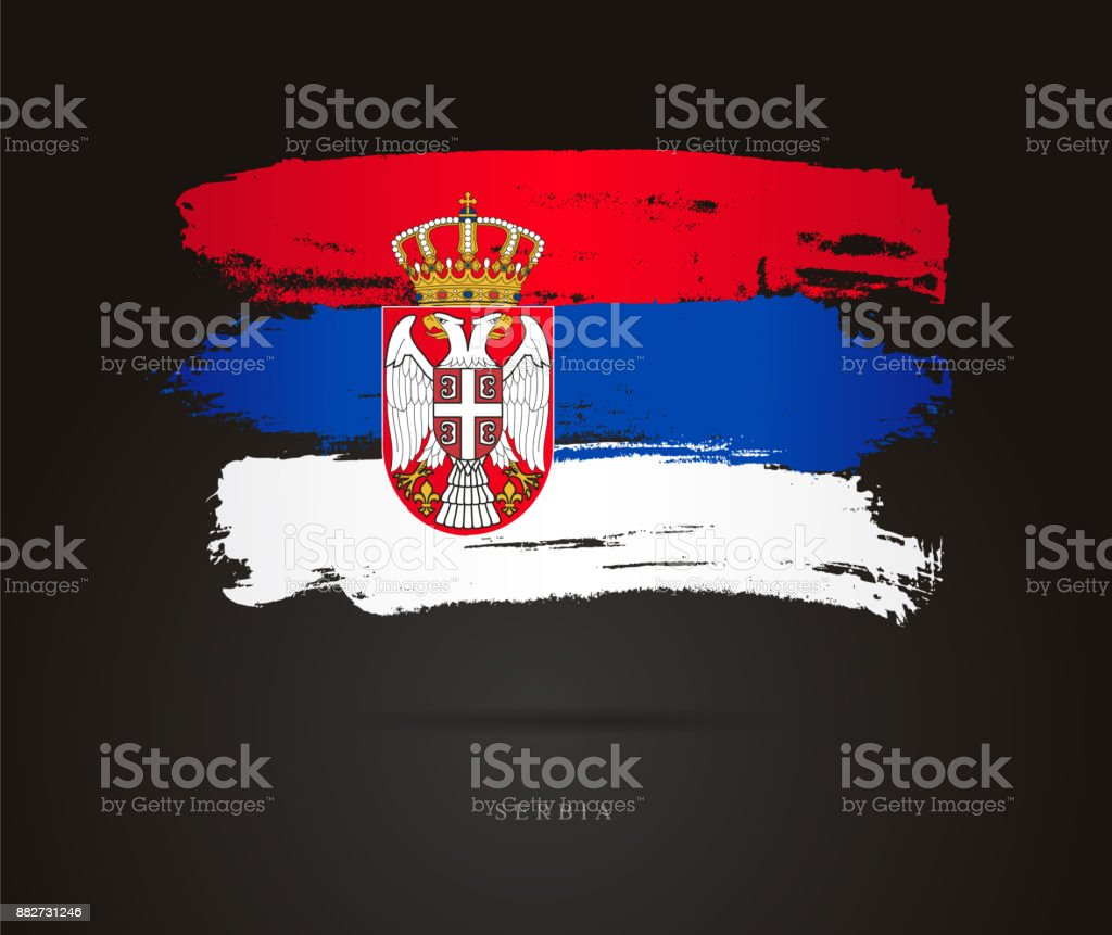 Flag of Serbia. Vector illustration royalty-free flag of serbia vector illustration stock illustration - download image now
