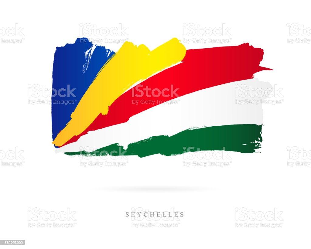 Flag of Seychelles. Vector illustration vector art illustration