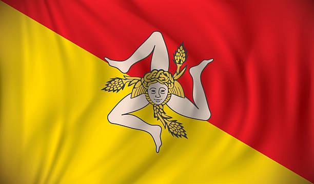 flaga sycylia - sicily stock illustrations