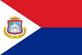 Flag of Sint Maarten. Vector illustration. World flag