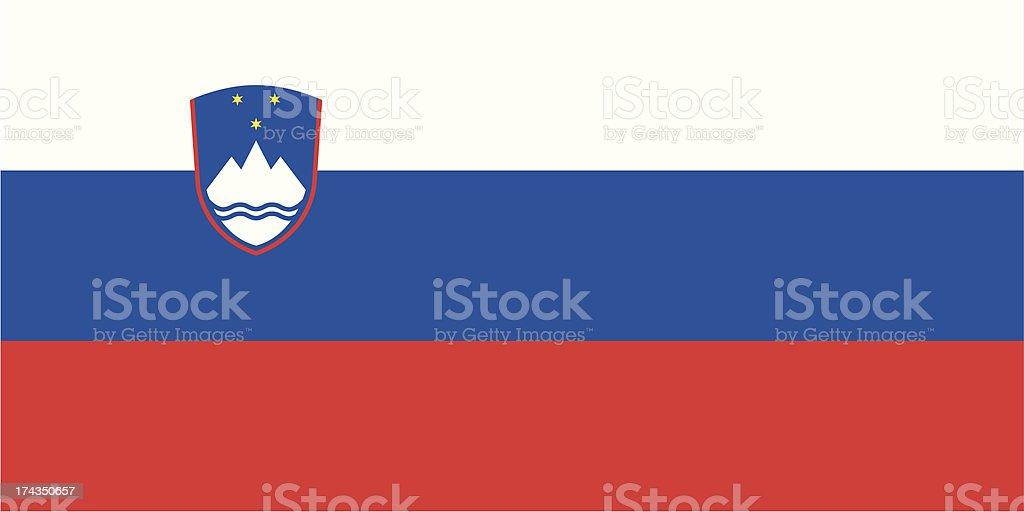 Flag of Slovenia vector art illustration
