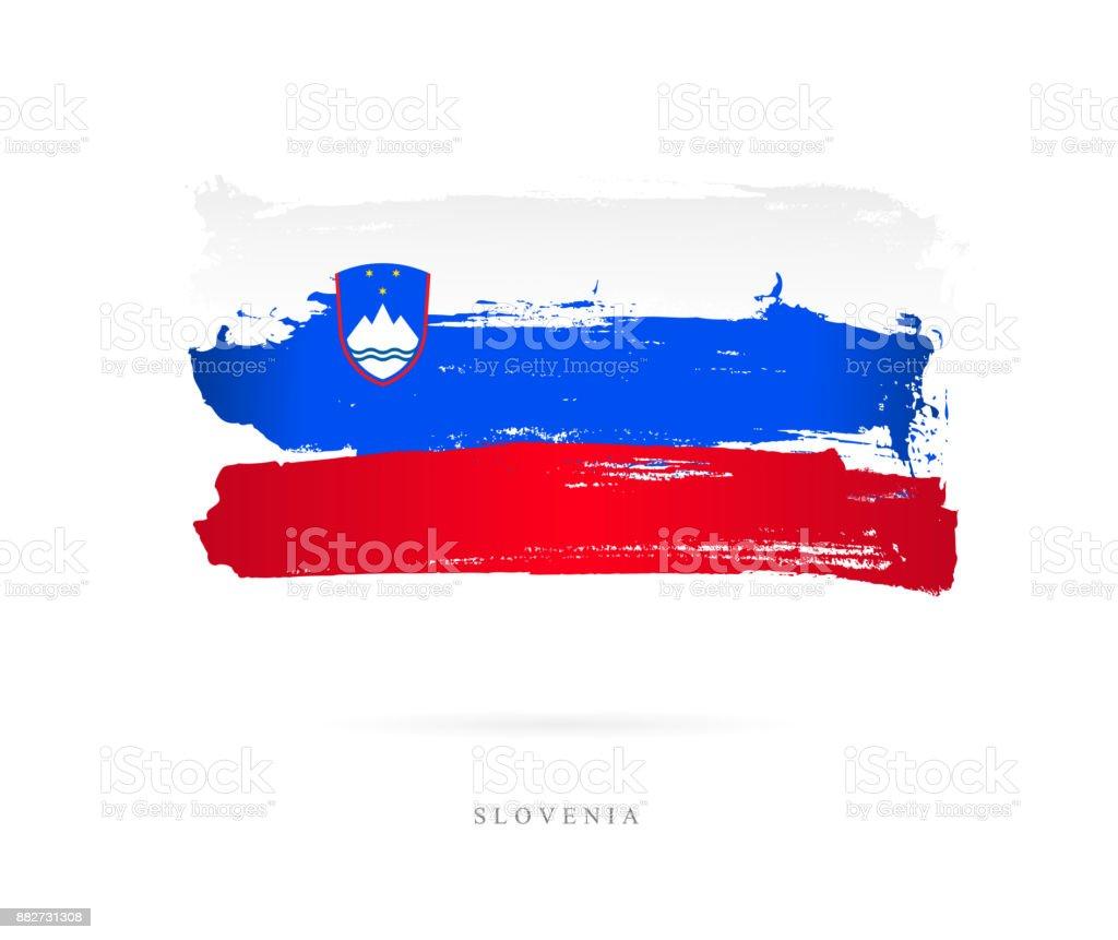 Flag of Slovenia. Vector illustration vector art illustration