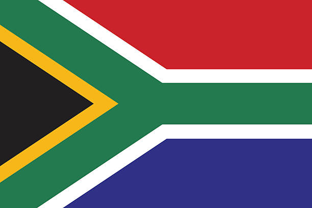 bildbanksillustrationer, clip art samt tecknat material och ikoner med flag of south africa - south africa