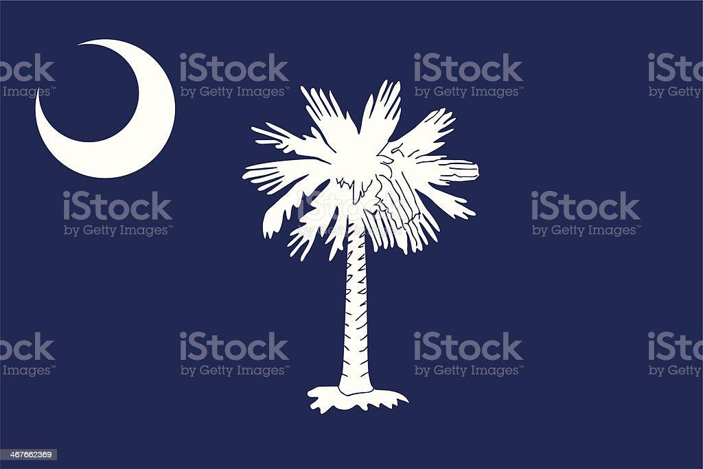 Flag of South Carolina vector art illustration