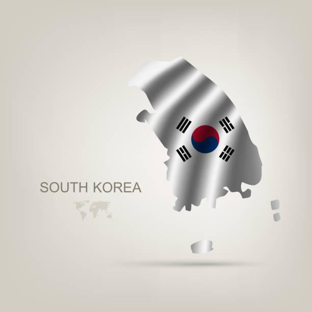 ilustrações, clipart, desenhos animados e ícones de bandeira da coreia do sul, um país - bandeira da coreia