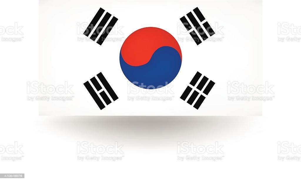 Bandeira da Coréia - ilustração de arte em vetor