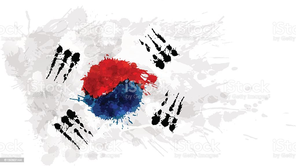 Flag of South Korea ( Republic of Korea ) - Illustration vectorielle